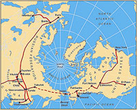 Join Russia And USA By Rail Tunnels Under The Bering Strait - Us and russia map